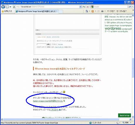 Faster Image Insert の日本語化ページ
