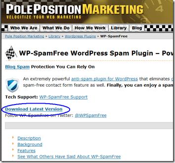WP-SpamFreeのダウンロードサイト