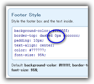 Footer / Style & edit FOOTER / Footer Style