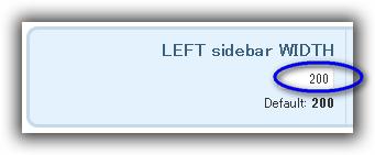 Sidebars & Widgets / Style & configure SIDEBARS / LEFT sidebar WIDTH