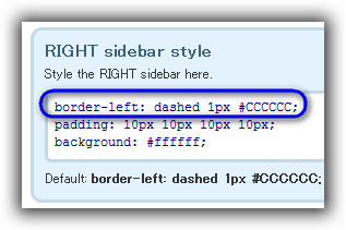 Sidebars & Widgets / Style & configure SIDEBARS / RIGHT sidebar style