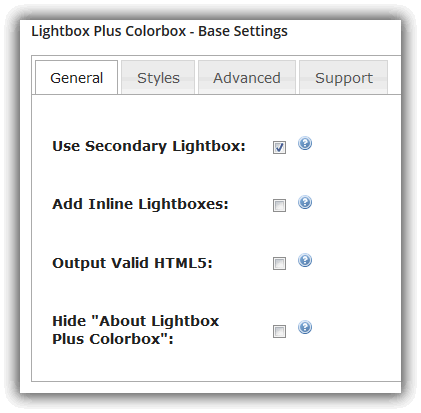 Lightbox Plus Colorbox - Base Settings / General