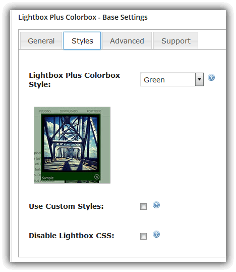 Lightbox Plus Colorbox - Base Settings / Style