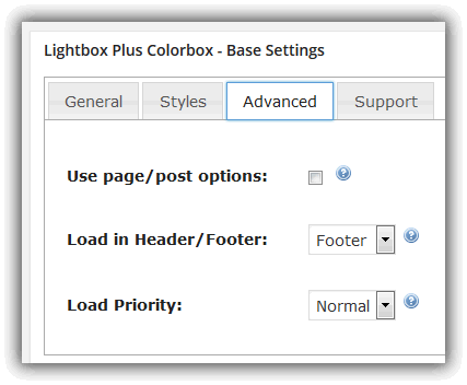Lightbox Plus Colorbox - Base Settings / Advanced