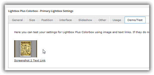 Lightbox Plus Colorbox - Primary Lightbox Settings / Demo/Test